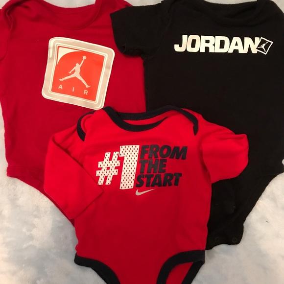 Jordan & Nike one pieces 0-3 months Babyboy